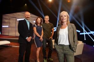 Mariella Frostrup (front)nL-R Phillip Hodson, Tracey Cox, Dan Savage
